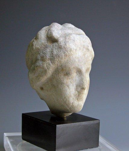 91: Greek Hellenistic Marble Head, ex-Charles Ede