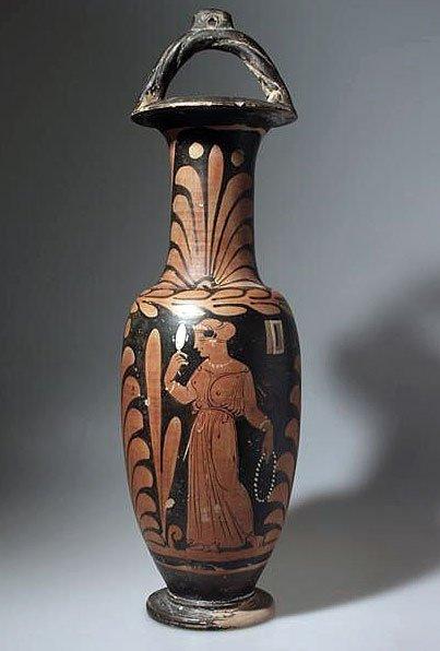 94: A Greek Campanian Bail Amphora, Whiteface Painter