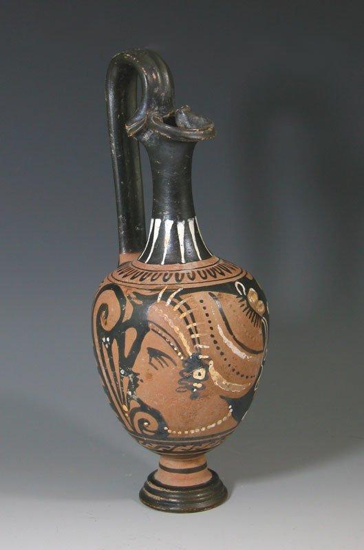 106: A Greek Apulian Red-Figure Oinochoe