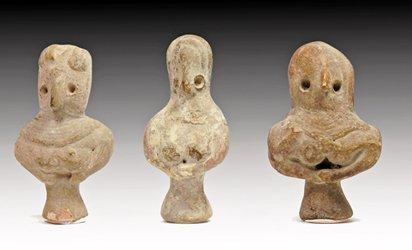 144: Lot of 3 Indus Valley Bird Man Idols