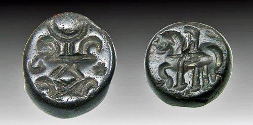 163: Lot of 2 Hematite Sasanian Seals