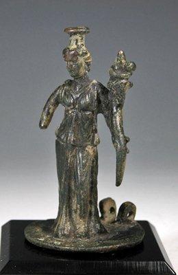 112: A Roman Bronze Oil Lamp Cover