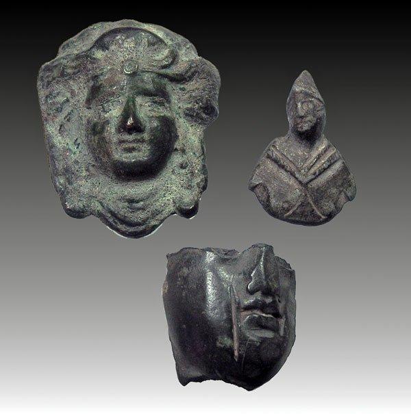 115: Lot of 3 Roman Bronzes