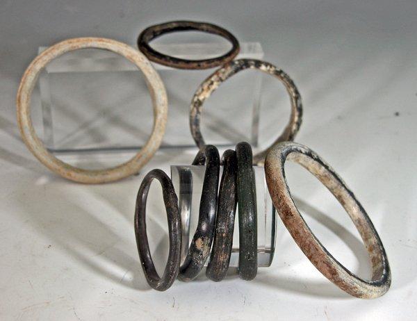 116: Lot of 8 Roman Glass Bracelets