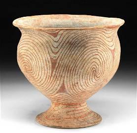 Ancient Thai Ban Chiang Bichrome Jar, ex-Museum
