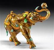 "Nano Lopez Bronze ""Bobby"" Elephant Sculpture, 2020"