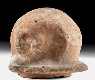 Egyptian Terracotta Canopic Lid - Imsety / Son of Horus