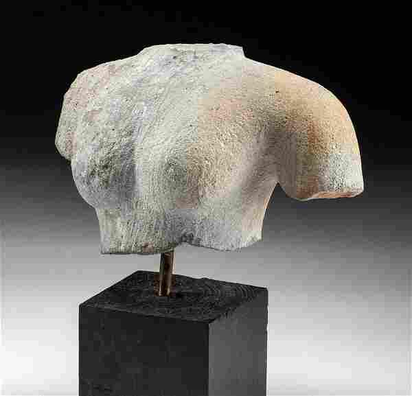 Fine 12th C. Khmer Stone Female Bust