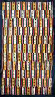Gorgeous 19th C. West Tibetan Kampa Yak Wool Shawl