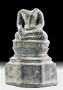 14th C. Khmer Bronze Shakyamuni Buddha
