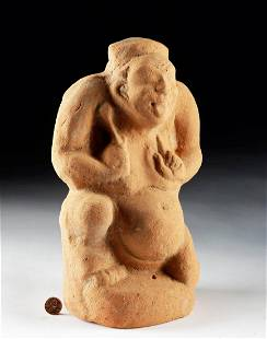 Early Han Dynasty Terracotta Jester with Drum
