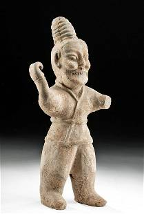 Chinese Jin Dynasty Pottery Tomb Guardian Spear Thrower