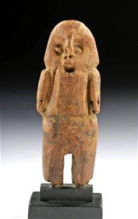 Ancient Chilean Wood Standing Figure