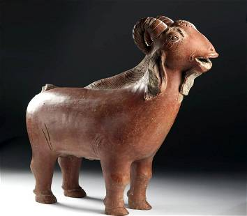 12th C. Indonesian Majapahit Glazed Pottery Goat