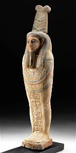 Egyptian Wood / Polychrome Gesso Ptah Sokar Osiris