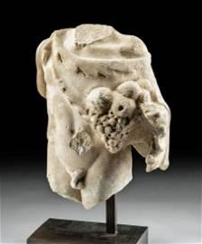 Fine Roman Marble Torso Youthful Bacchus