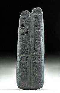 Rare / Fine Egyptian Obsidian Two-Finger Amulet