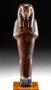 Tall Egyptian New Kingdom Wood Ushabti, ex-Merrin