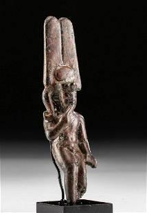 Egyptian Leaded Bronze Statue Nude Harpocrates