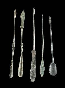 5 Roman Brass & Bronze Medical Implements