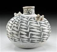 Anasazi Chaco Pottery Canteen w/ Dog Handles & TL