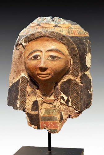 19: An Egyptian Cartonnage Mask, New Kingdom