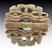 50: An Egyptian Faience Double Eye of Horus Amulet