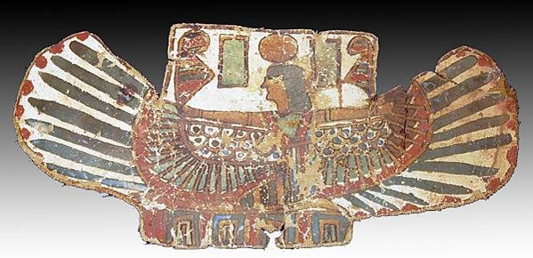 65: An Egyptian Cartonnage Pectoral with a Winged Isis