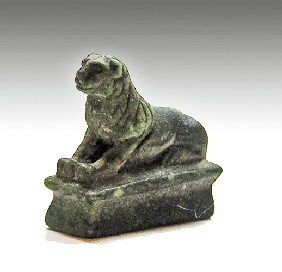 An Egyptian Miniature Ptolemaic Stone Lion