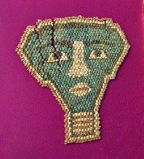An Egyptian Beaded Mummy Mask