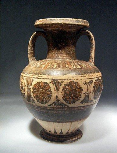 84: A Corinthian Neck Amphora, Image of a Komast