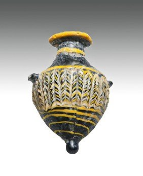 An East Mediterranean Glass Amphoriskos