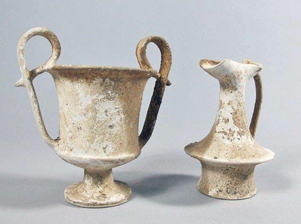 120: A Canosan Pottery Kantharos and Epichysis