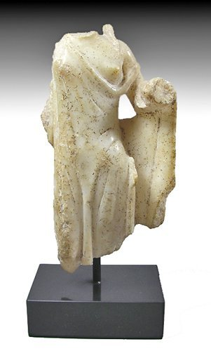 129: A Greek Alabaster Statuette of Aphrodite