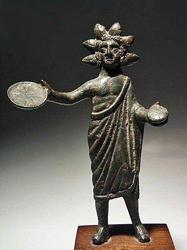 133: An Etruscan Bronze Statuette of a Priest