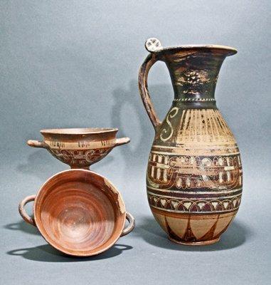 "132A: An Etruscan ""Wine Set"" - 3 pcs"