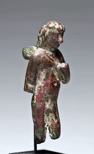 154: A Roman Bronze Votive Figure
