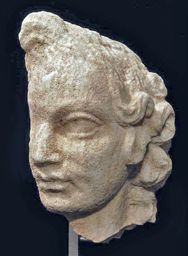155: A Roman Marble Profile Head of a Boy