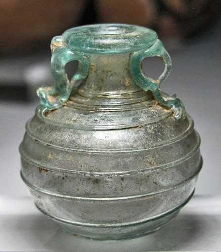 169: A Roman Glass Aryballos