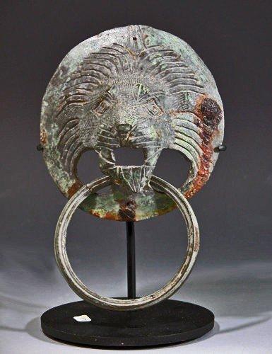 178: A Roman Bronze Lion Attachment