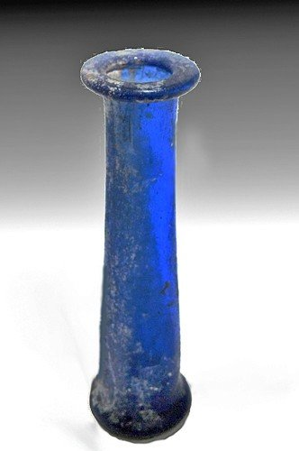 180: A Roman Glass Unguentarium - Rare Form