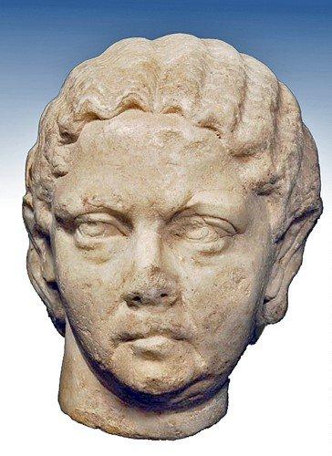 187: A Roman Marble Female Portrait Head