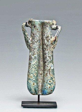 189: A Roman Glass Double Balsamarium