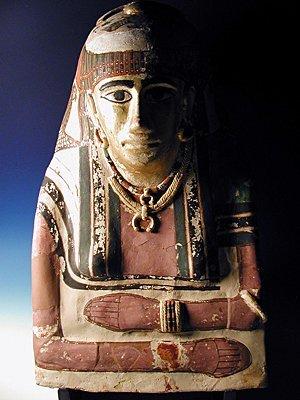 72B: An Egyptian Female Mummy Mask
