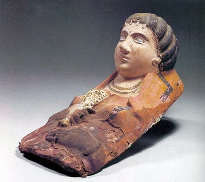 72A: An Egyptian Plaster Funerary Mask of a Woman
