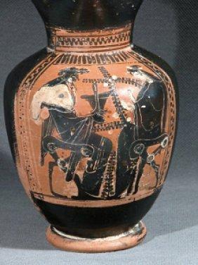 A Greek Attic Oinochoe - Dionysus