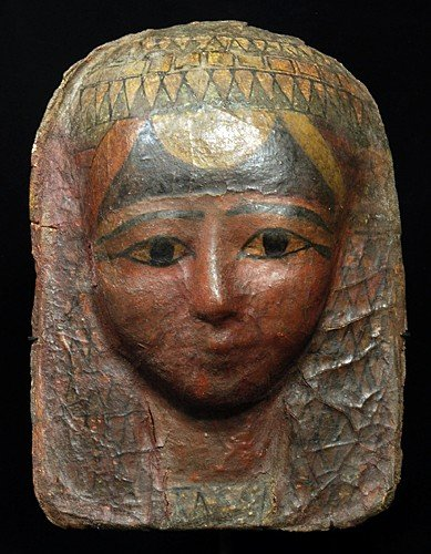 8: An Egyptian Cartonnage Painted Funerary Mask