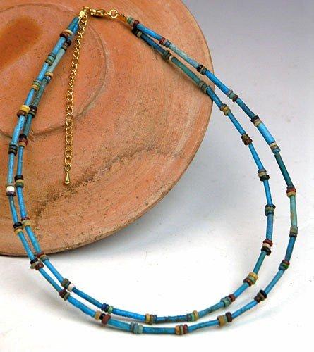 14: A Fine Egyptian Faience Bead Necklace