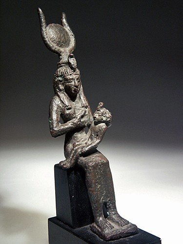 16: A Bronze Statuette of Isis and Horus