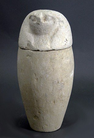 20: An Egyptian Limestone Canopic Jar - Complete!